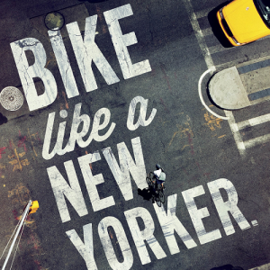 Bike Like a New Yorker Poster and Print