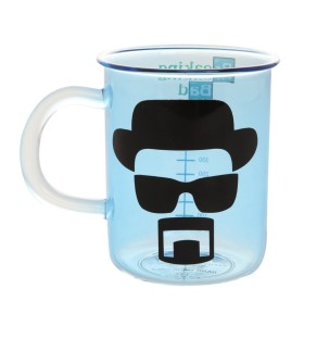 Breaking Bad AMC Beaker Design Blue Fade Glass Mug