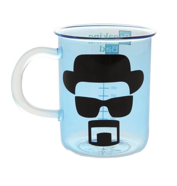 Breaking Bad AMC Beaker Design Blue Fade Glass Mug