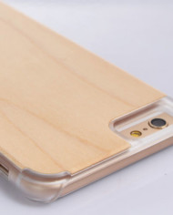 iPhone 6 Bamboo Case with Clear Plastic Bumper 2