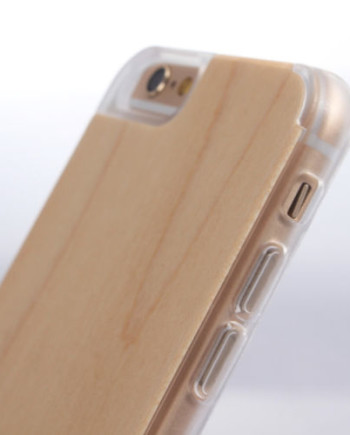 iPhone 6 Bamboo Case with Clear Plastic Bumper