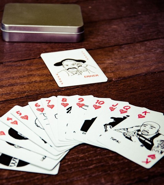 classic hip hop playing cards