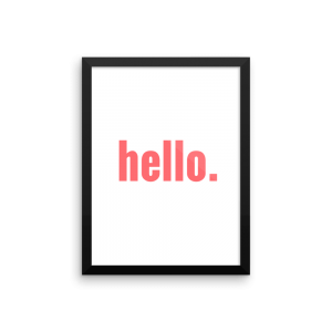 hello poster print
