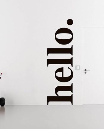 hello vinyl sticker wall decal