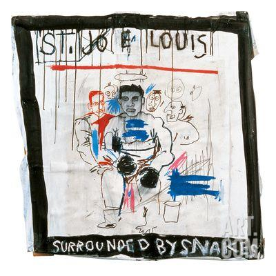 jean-michel-basquiat-st-joe-louis-surrounded-by-snakes-1982