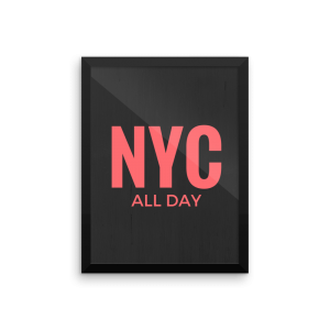 nyc all day poster print