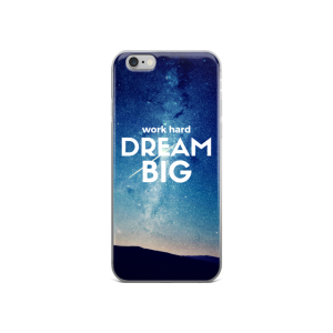 work hard dream big iphone case